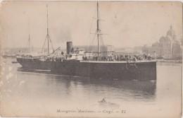 AFRIQUE,EQUATORIAL FRANCAISE,africa,congo,1920,bateau,à Vapeur,messagerie - Pointe-Noire