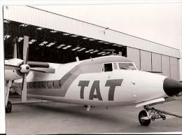 Carte Photographie LE HAVRE ? Avion à Hélices Compagnie TAT Sortant D´un Hangar Propeller Plane Beau Plan - 1946-....: Moderne