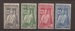 1946 Centenario Padroeira De Portugal -Serie Completa - Yvert 684/7* - Nuevos