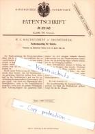 Original Patent   - W. C. Kaltschmidt In Neumünster , 1884 , Kratzenbeschlag Für Volants !!! - Lotterielose