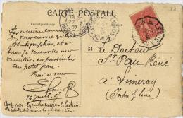 CACHET CONVOYEUR LEXOS A MONTAUBAN CARTE PHOTO EGLISE A IDENTIFIER - Postmark Collection (Covers)