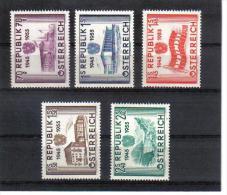 VV469 ÖSTERREICH 1955 MICHL 1012/16 SATZ ** POSTFRISCH - 1945-60 Ungebraucht