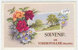 "CPM - 57 - Vibersviller - Fantaisie Florale "" Souvenir De..."" - Otros Municipios"