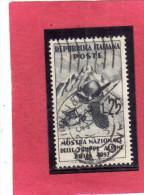 ITALIA REPUBBLICA ITALY REPUBLIC 1952 TRUPPE ALPINE TROOPS TROUPES ALPINES USATO - USED - OBLITERE´ - 6. 1946-.. Repubblica