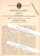 Original Patent   - Ernst Ludwig Hertel In Wurzen , 1884 , Sperrradverschluß Für Filterpressen !!! - Lotterielose