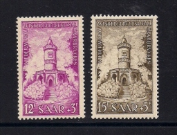 SAARLAND, 1956, Mint Never Hinged Stamps,  Winterberg, 2 Values Only, MI-375=375, #13259 - French Zone