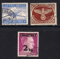 GERMANY FELD POST,  1942-1944, Cancelled  Stamps,  3 Values Only, MI 1-3, #13277 - Soviet Zone