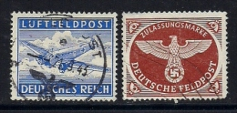 GERMANY FELD POST,  1942-1944, Cancelled  Stamps,  2 Values Only, MI 1=3, #13278 - Soviet Zone
