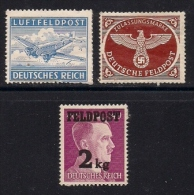 GERMANY FELD POST,  1942-1944,Mint Hinged Stamps,  3 Values Only, MI 1-3, #13279 - Soviet Zone
