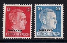 GERMANY OSTLAND,  1941, Mint Hinged Stamps,  Hitler, 2 Values Only, MI 8+11, #13283 - Soviet Zone