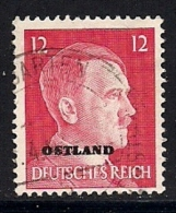 GERMANY OSTLAND,  1941, Cancelled Stamp,  Hitler, 21 Value  Only, MI 8 , #13284 - Soviet Zone