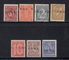 GERMANY OBERSCHLIESIEN,  1920,Mint Hinged Stamps,  Dienstmarke, CGHS Overprint , 9 Values, MI 9 ,  #13288 - Germany