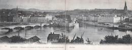 BAYONNE - Carte Lettre Panoramique - Panorama De La Jonction De La Nive Et De L'Adour Vue Prise De La Citadelle 1904 - Bayonne