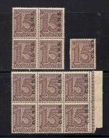 GERMANY OBERSCHLIESIEN,  1920, Mint Hinged Blocks Stamps,  Dienstmarke, CGHS Overprint ,  #13290 - Germany