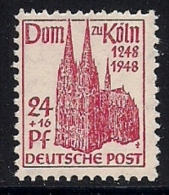 GERMANY,  ALLIED OCCUPATION,1948, Mint Never Hinged Stamp , Dom Of Koln, 1 Value  Only, MI  71, #13273 - American,British And Russian Zone