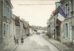 Savigné L Eveque Sarthe 72  Gendarmerie Et Grande Rue Colorisée - France