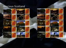 GREAT BRITAIN - 2007  GLORIOUS SCOTLAND GENERIC SMILERS SHEET   PERFECT CONDITION - Fogli Completi