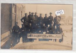 """CPA-15073 -Militaria-Carte Photo  """" Comité D'alimentation Du Nord De La France"""" (C.A.N.F) Avec Soldats Allemands - Matériel"""