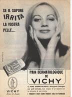 1965  - Pain Dermatologique De VICHY  -  1  P.  Pubblicità Cm. 13,5 X 18,5 - Altri