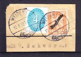 Briefstueck, MiF Dienstmarken, Entwertet Weiden 1932 (70697) - Deutschland