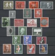 BRD Jahrgang 1958 Nr.281-301 komplett, postfrisch