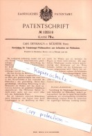 Original Patent - Carl Denkhaus In Mülheim , Ruhr , 1902 , Tabakstengel-Plättmaschinen , Tabak !!! - Sonstige