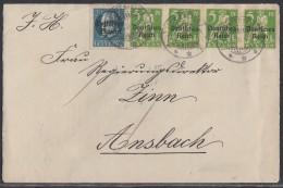 DR Brief Mif Minr.4x 119, Bayern Minr.121II A Lichtenfels 21.5.20 - Briefe U. Dokumente
