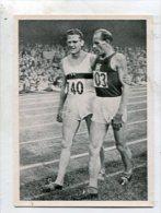 SB10106 KOSMOS Zigarettenbilder - Oylmpische Spiele Helsinki 1952 Bild Nr.40 ... Emil Zatopek, Links Herbert Schade - Chromos