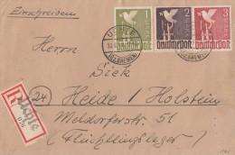 Gemeina. R-Brief Mif Minr.959,960,961 Uchte 22.6.47 - Gemeinschaftsausgaben
