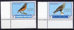 Oiseau Europa 2000 Slobodna Crna Gora - Montenegro