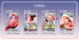 st14508a S.Tome Principe 2014 Birds Flamingos s/s