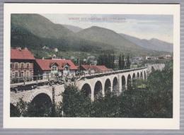 """75 Jahre BLS - Viadukt Der Münster-Grenchen-Bahn - """"Reproduction"""" -auf Dem Rückseite: Taufe Der Lok Gretchen Am 5.11.198 - Trains"""