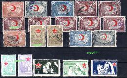 Turquie -  Demi Lune  -  Croix Rouge,  1928 - 1955, Selon Scan, Lot 42810 - 1921-... Republik