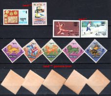 Bhoutan  1968 - 1976, Divers Timbres, Selon Scan, Lot 42812 - Bhutan