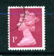 GREAT BRITAIN  -  1971 To 1996  Queen Elizabeth II Machin Definitive  1p  Used As Scan - 1952-.... (Elisabetta II)