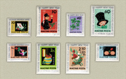 Hungary 1963. Happy New Year Set MNH (**) Michel: 1983-1990 / 3.50 EUR - Nuovi
