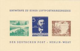 BERLIN BEPHILA 1957 Entwürfe Zu Einer Luftpostmarkenserie 57/3 - Covers & Documents