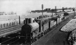 Aspinall 0-6-0 Hauling A Goods Train Near Golbourne 1946 - Railway