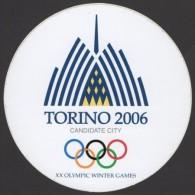 ITALY - XX OLYMPIC WINTER GAMES TORINO 2006 - TORINO CANDIDATE CITY - STICKER / AUTOCOLLANTE - Giochi Olimpici
