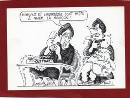DESSIN DE L'ILLUSTRATEUR POLITIQUE PLANTU SUR LE  LE SERVICE PUBLIC - Plantu