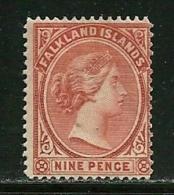 """Falkland Islands       """"Queen Victoria""""     SC# 17     SCV$ 60.00 - Falkland"""