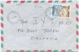 1996 OLIMPIADI L.1250 ISOLATO SU BUSTA 7.12.96 X FINLANDIA RARA DESTINAZIONE E SPLENDIDA QUALITÀ (A381) - 6. 1946-.. Repubblica