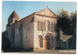 Près Mirambeau Et Jonzac--NIEUL LE VIROUIL--L'église (type Roman) ,cpm 15 X 10  Imp  ICRT  Jonzac - France