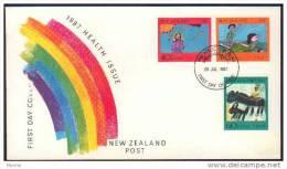 "-New Zealand-1987-""Health"" (o) Set Of 3 - New Zealand"