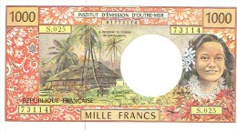 S.025 1000 F Nouvelle Caledonie Noumea Billet IEOM Monnaie Banknote Vahinecerf Cagou Neuf UNC - Billets