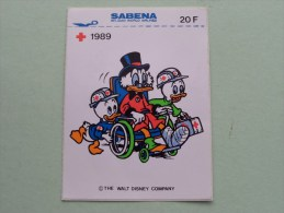 1989 Rode Kruis Sabena ( Zie Foto Voor Details ) Zelfklever Sticker Autocollant ! - Publicidad