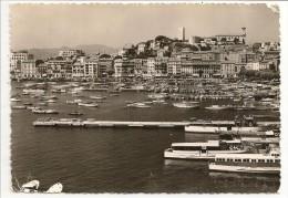 06 - CANNES - Le Port, Le Quai Saint-Pierre Et Le Suquet Vus Du Casino Municipal - éd. RELLA N° 20 - 1956 - Cannes