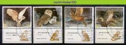 Naa1924 FAUNA ROOFVOGELS UIL BIRDS OF PREY OWL GREIFVÖGEL EULE AVES HIBOUX OISEAUX ISRAËL 1987 Gebr/used - Owls