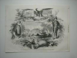 GRAVURE 1858. COMICE AGRICOLE DE ROMORANTIN, LE 27 JUIN, DANS LE DOMAINE IMPERIAL DE LA MOTTE-BEUVRON......... - Prints & Engravings