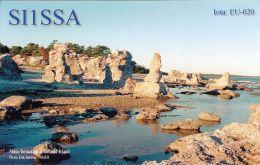 1 QSL-Karte Schweden * Steinformationen An Der Küste Der Insel Gotland * - Zweden